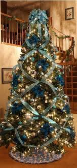 Download Silver And Blue Christmas Tree Decorations