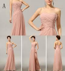 Cx Shine Chiffon Split Long Bridesmaid Dresses Custom Colors