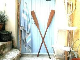 vintage boat paddles pleasant graceful 2 long wooden oars canoe wall decor paddle wood beach oar wo
