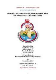 imperative theory of john austin docsity imperative theory of john austin