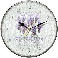 Country Kitchen Wall Clocks Shabby Chic Lavande De Provence Round Wall Clock