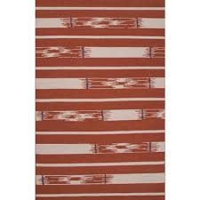 flat weave tribal red ivory wool area rug rusted timber