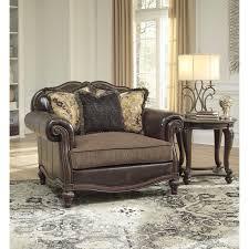 chair and a half ottoman