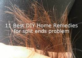 diy home remes to get rid of split ends problem