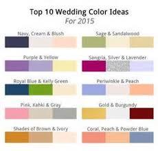 Wedding Color Chart Top 10 Colors Summer 2015 Kim Media Llc