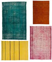 have you seen the overdyed rugs curly flooding the home decor market it s hard to resist the bright saturated colors and unique character of these