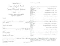 wedding party program templates wedding ceremony itinerary template