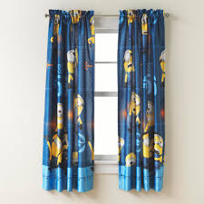 Sears Bedroom Curtains Room Darkening Curtains Sears Despicable Me Minions Panel Idolza