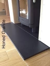 honed granite hearth