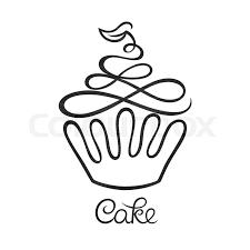 Cake Cafe Or Bakery Logo Design Stock Vector Colourbox
