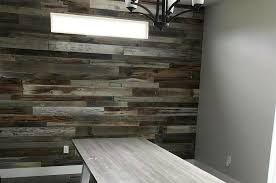 a reclaimed barn wood accent wall
