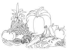 I showed them how to draw each individual fruit on the board. Fruits And Vegetables Coloring Pages For Kids Printable Coloring Home