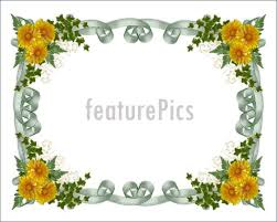 Floral Borders For Word Floral Border Yellow Flowers Royalty Free Stock Illustration