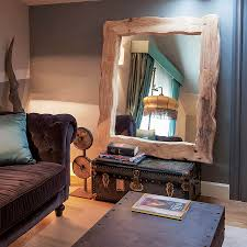 wood mirror frame. Rustic Wood Mirror Frame. Tree Furniture. View In Gallery Give The Bedroom A Frame