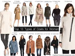 types of coats for women winter fall autumn