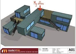 container office design. Besides Reusing Shipping Containers, The Windows And Doors Are Salvaged, Wood For Mezzanine Decking Is Reclaimed, Infill Guardrails Will Container Office Design