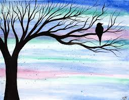 evening original watercolour painting by kirsten bailey