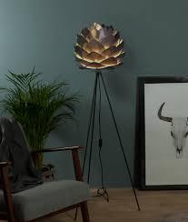 copper silvia shade floor lamp