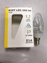 Ikea Ryet Led 100 Lm 15w E14 Bulb