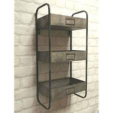 Industrial style furniture Australia Vintage Industrial Style Metal Wall Shelf Unit Perfect For Bathroom Essentials Or Ornaments In Any Industrial Style Furniture Amazoncouk