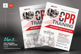 Training Flyer Cpr Training Flyer Templates By Kinzi21 Graphicriver