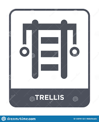Trellis Web Design Trellis Icon In Trendy Design Style Trellis Icon Isolated