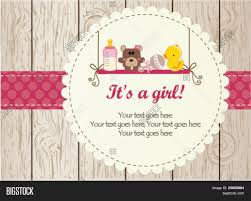 Announcement For Baby Girl Baby Girl Arrival Vector Photo Free Trial Bigstock