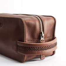 attractive mens toiletry bag in leather dopp kit by capra