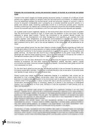 essay on impacts of tourism year hsc geography thinkswap essay on impacts of tourism