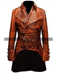 military mens leather steampunk rock designer jacket coat
