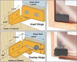 woodworker s supply glass door hinges