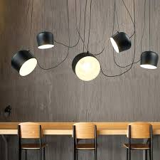 diy hanging lamp shade art design hanging lamp pendant lights ac black white aluminum office studio