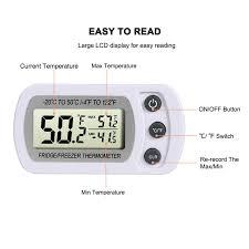 Home, Furniture & DIY <b>Waterproof Digital LCD</b> Freezer Fridge ...