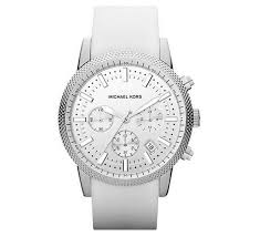 17 best images about men s watches michael kors men michael kors men s chronograph scout white silicone strap watch