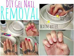 how to remove acrylic gel nails at home