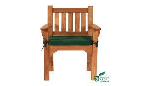 cushion green garden chair 1 seat