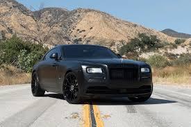 Threatening Look Of Custom All Black Matte Rolls Royce Wraith
