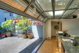 glass garage door in kitchen.  Glass Garage Patio Door Awe Inspiring Glass Doors  Kitchen Beach Style With  Designs Full  Intended Glass Garage Door In Kitchen