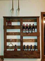 wall mounted liquor cabinet pallet