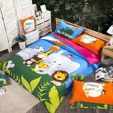 full size boys bedding sets forest green and blue happiness jungle animal zoo party chic and