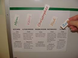 Family Chore Chart List Magnetic Family Chore Chart For A Multi Child House Hold