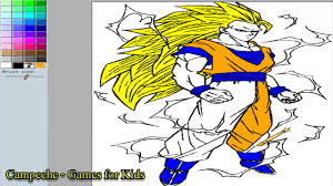 Small Picture Dragonball Online Coloring Pages Goku Super Sayajin 36 YouTube