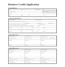 Wholesale Credit Application Credit Request Form Template
