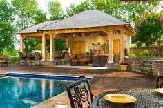 backyard pool and outdoor kitchen designs.  Designs Beautiful Swimming Pool Design Feat Cool Covered Outdoor Kitchen With  Gazebo And Bar Area Idea Take Your Summer With Great Excitement And  Backyard Designs W
