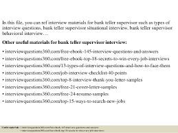 Bank Teller Job Interview Questions Top 10 Bank Teller Supervisor Interview Questions And Answers