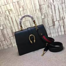 gucci dionysus leather top handle bag black 421999