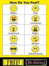 Preschool Feelings Chart Printable