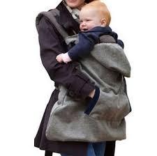 Baby Carrier Velvet Cloak Warm Cape Cloak Winter Cover Wind Out ...