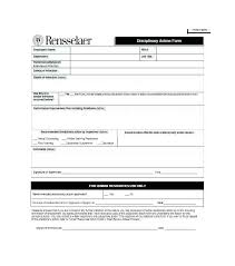 employee discipline template disciplinary policy template