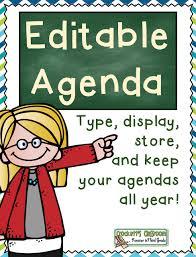 Class Agendas Daily Agenda Crocketts Classroom Forever In Third Grade